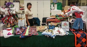 Maria Ishu at the Christmas Bazaar